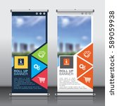 roll up brochure flyer banner...   Shutterstock .eps vector #589059938