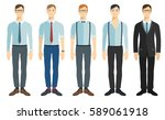 young businessman in flat style.... | Shutterstock .eps vector #589061918