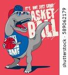 Dinosaur  Basketball Player...