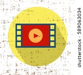 film movie strip with play... | Shutterstock .eps vector #589063034