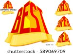 victory awards from best  first ...   Shutterstock .eps vector #589069709