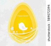 happy easter design background... | Shutterstock .eps vector #589072394