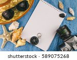 top view  sea and travel... | Shutterstock . vector #589075268
