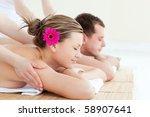 young couple enjoying a back... | Shutterstock . vector #58907641
