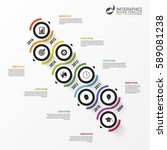 abstract timeline infographic... | Shutterstock .eps vector #589081238