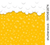 beer background with foam and... | Shutterstock .eps vector #589081874