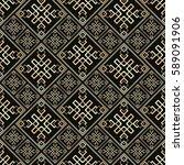seamless pattern in art deco... | Shutterstock .eps vector #589091906