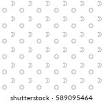 moon and sun pattern. minimal... | Shutterstock .eps vector #589095464