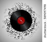 Illustration Of Vinyl Record...