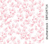 decorative seamless floral... | Shutterstock .eps vector #589109714
