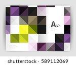 vector square minimalistic... | Shutterstock .eps vector #589112069