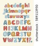vector retro typography hand... | Shutterstock .eps vector #589113950