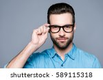 a portrait of young handsome... | Shutterstock . vector #589115318
