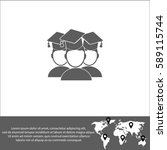 students vector  icon. | Shutterstock .eps vector #589115744