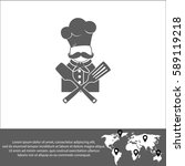 chef vector  icon. | Shutterstock .eps vector #589119218