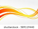 Abstract wavy background. Wavy lines on a gray dot background | Shutterstock vector #589119440