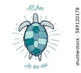 vintage vector  label   sea...   Shutterstock .eps vector #589120178