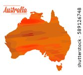 isolated australian map on a... | Shutterstock .eps vector #589126748