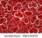 love valentines hearts... | Shutterstock . vector #589134329