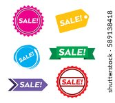 a collection of simple sales... | Shutterstock .eps vector #589138418