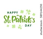 happy saint patrick's day... | Shutterstock .eps vector #589144250