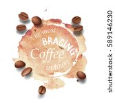 vector illustration of a coffee ... | Shutterstock .eps vector #589146230