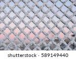 Frozen Fence In Murmansk  Kola...