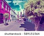 landmark and vacations in... | Shutterstock . vector #589151564