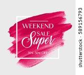 sale super weekend sign over...   Shutterstock .eps vector #589156793