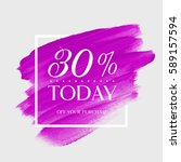 sale today's special 30  off... | Shutterstock .eps vector #589157594