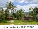 Small photo of Traditional african malagasy village with huts in Maroantsetra region, typical village in north east Madagascar, Masoala national park, Toamasina Province.