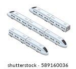 fast modern high speed train.... | Shutterstock .eps vector #589160036