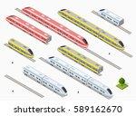 fast modern high speed train.... | Shutterstock .eps vector #589162670