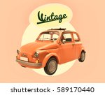 car of italian vintage  3d... | Shutterstock . vector #589170440