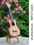 Small photo of Self made concert ukulele out of mango wood for playing lovely music