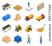 Warehouse Isometric Decorative...