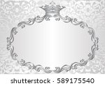 silver background with royal... | Shutterstock .eps vector #589175540