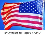 usa flag background | Shutterstock . vector #589177340