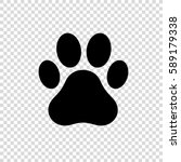 Paw Print Icon. Dog Or Cat Paw...