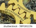economic development concept on ... | Shutterstock . vector #589181156