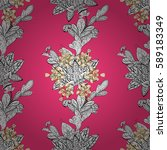 geometric background. golden... | Shutterstock . vector #589183349