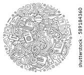 cartoon cute doodles hand drawn ...   Shutterstock .eps vector #589184360