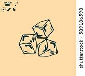 ice cubes symbol | Shutterstock .eps vector #589186598