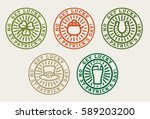 set of vector stamps for st.... | Shutterstock .eps vector #589203200