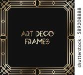 vintage retro style invitation  ... | Shutterstock .eps vector #589208888