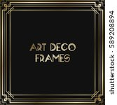 vintage retro style invitation  ... | Shutterstock .eps vector #589208894