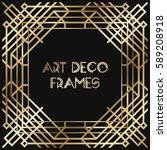 vintage retro style invitation  ... | Shutterstock .eps vector #589208918