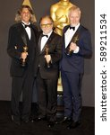 Small photo of Giorgio Gregorini, Alessandro Bertolazzi and Christopher Allen Nelson at the 89th Annual Academy Awards - Press Room held at the Hollywood and Highland Center in Hollywood, USA on February 26, 2017.