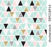 triangle seamless pattern.... | Shutterstock .eps vector #589218914
