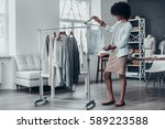 is it good enough  full length... | Shutterstock . vector #589223588